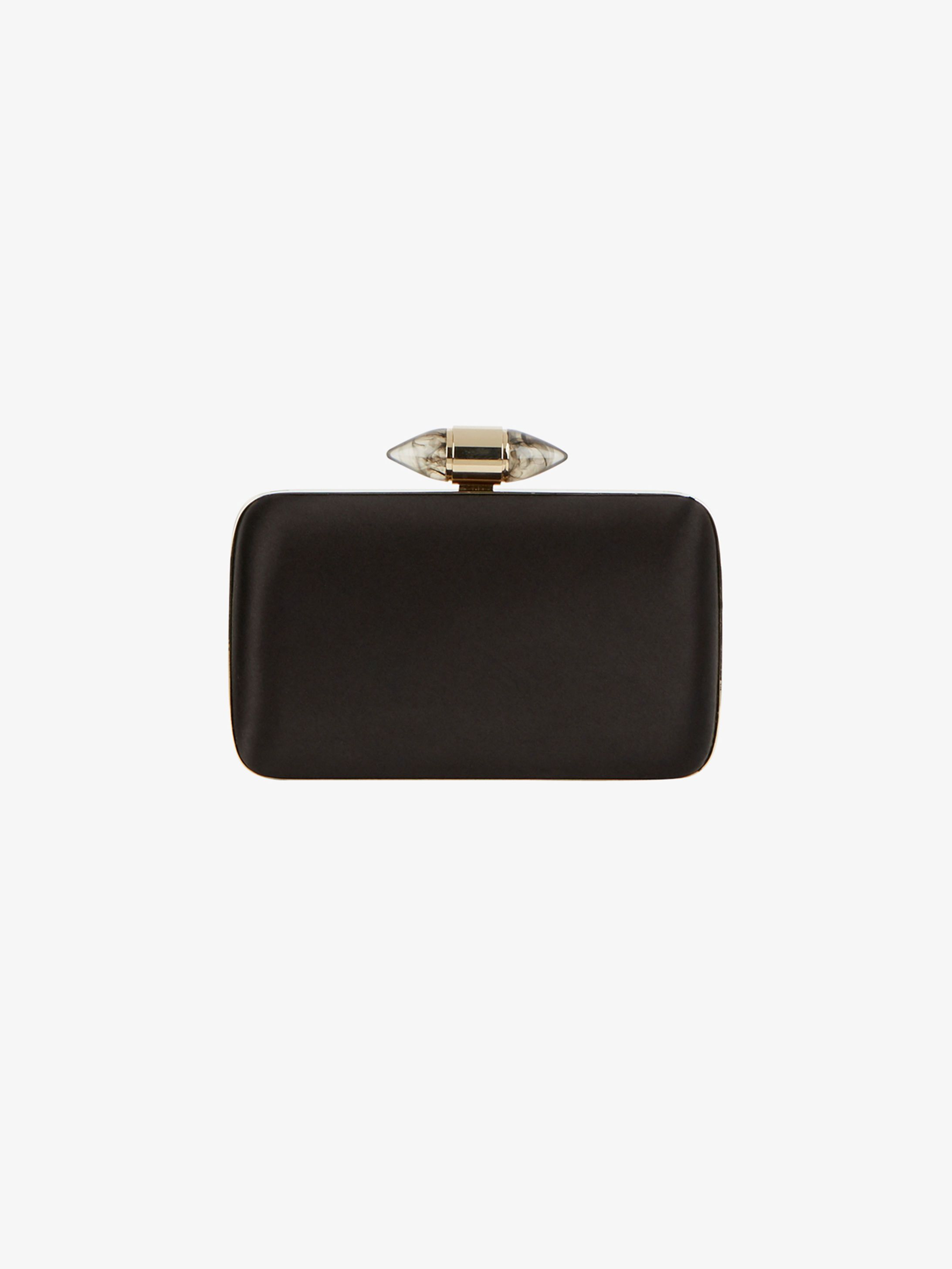 Givenchy Black Satin Clutch with Jewel Clasp.. #Givenchy