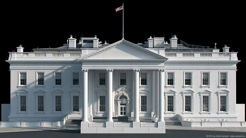 White House 3d Model Cool 3d Concepts House 3d Model Facade House 3d Model