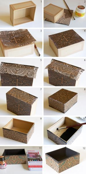 How To Decorate Boxes Foto Deschdanjach  Boxes  Pinterest  Box Craft And Diy Box