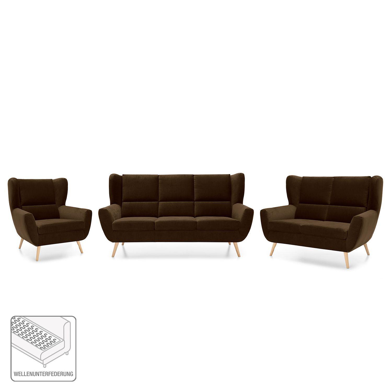 Polstergarnitur Glenhaven 3 2 1 Niedriger Couchtisch Sessel 3 Sitzer Sofa