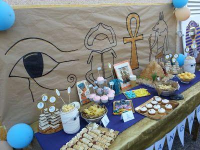 Mesa dulce cumpleaños Egipto