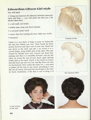 1901-1910. Hairstyle instructions. (My great grandmother used to ...