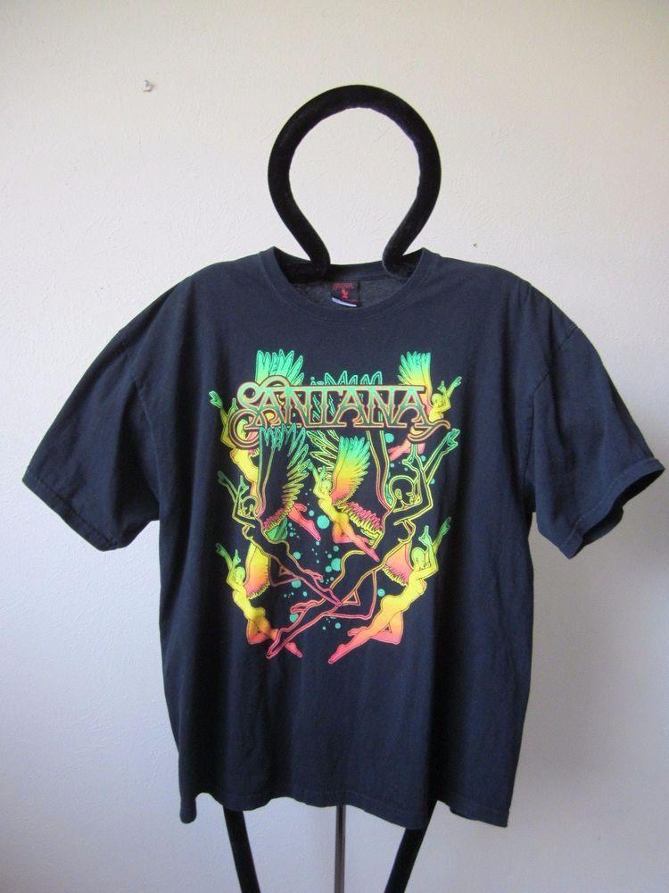 e17ffc84b SANTANA T-Shirt Reissue MEN'S Sizes 2XL NWT Carlos Santana Flight Devil  Angels | eBay