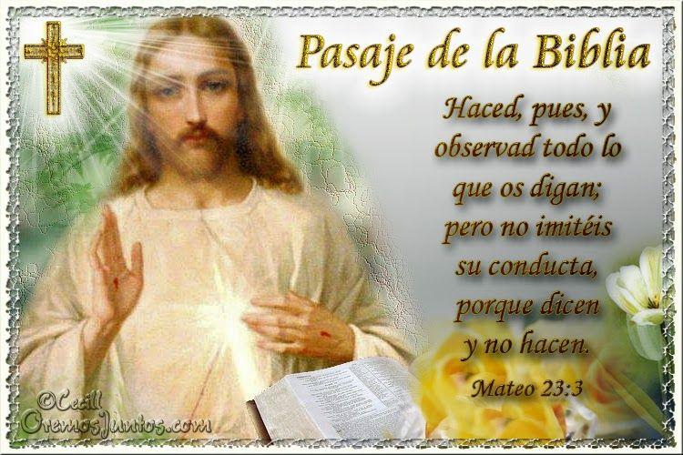 Vidas Santas: Santo Evangelio según san Mateo 23:3