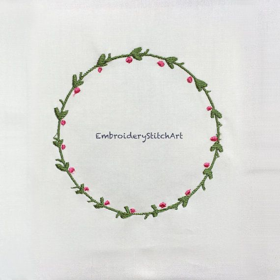Holly Plant Machine Embroidery Design Christmas Wreath Machine