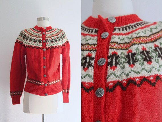 SALE 1950s Fair Isle Sweater / Vintage 50s by SavvySpinsterVintage ...
