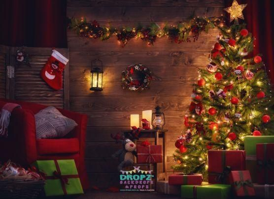 Indoor Christmas Scene Backdrop Backdrops Backdropsaustralia Dropzbackdropsaustralia Photographybackdrop Scenicbackground Dropzbackdrops