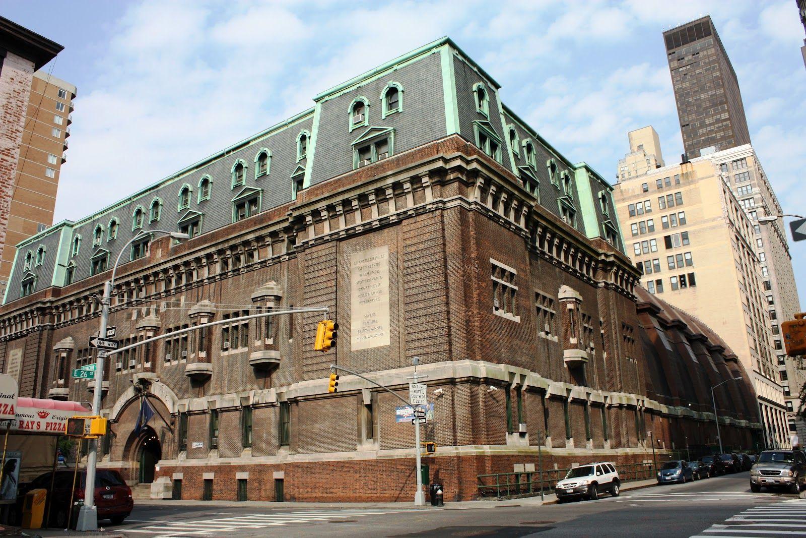 New York City Boroughs ~ Manhattan | 69th Regiment Armory (built in 1906), East 26th Street and Lexington Avenue