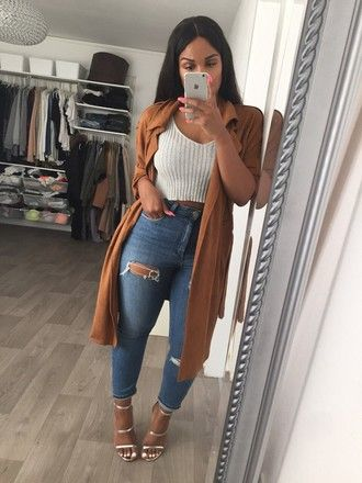 coat tan tumblr jacket tumblr girl long jacket brown coat slick fashion  ripped jeans outfit cute
