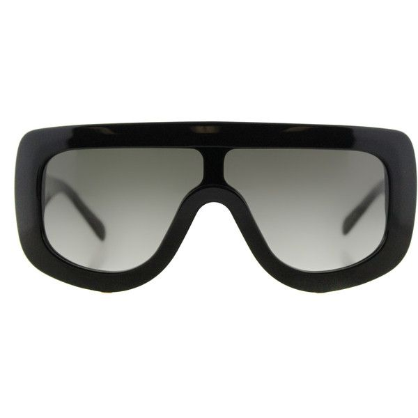 Celine Adele CL 41377 807 Black Square Plastic Sunglasses ($240) ❤ liked on Polyvore featuring accessories, eyewear, sunglasses, black, celine eyewear, square glasses, celine sunglasses, celine glasses and square sunglasses