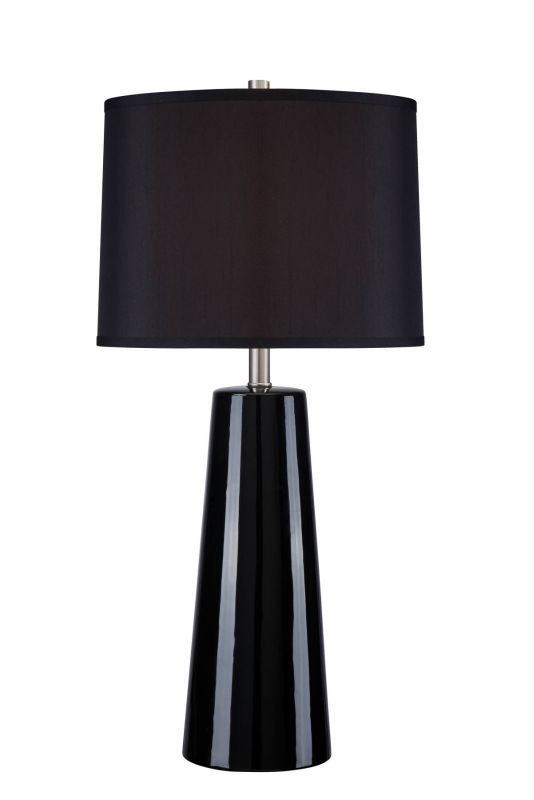 Lite source ls 22130blk blk kenneth 1 light table lamp black lamps table lamps