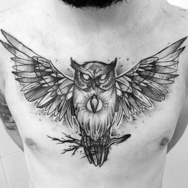 Resultado De Imagem Para Desenho Coruja Asas Abertas Tatuagem