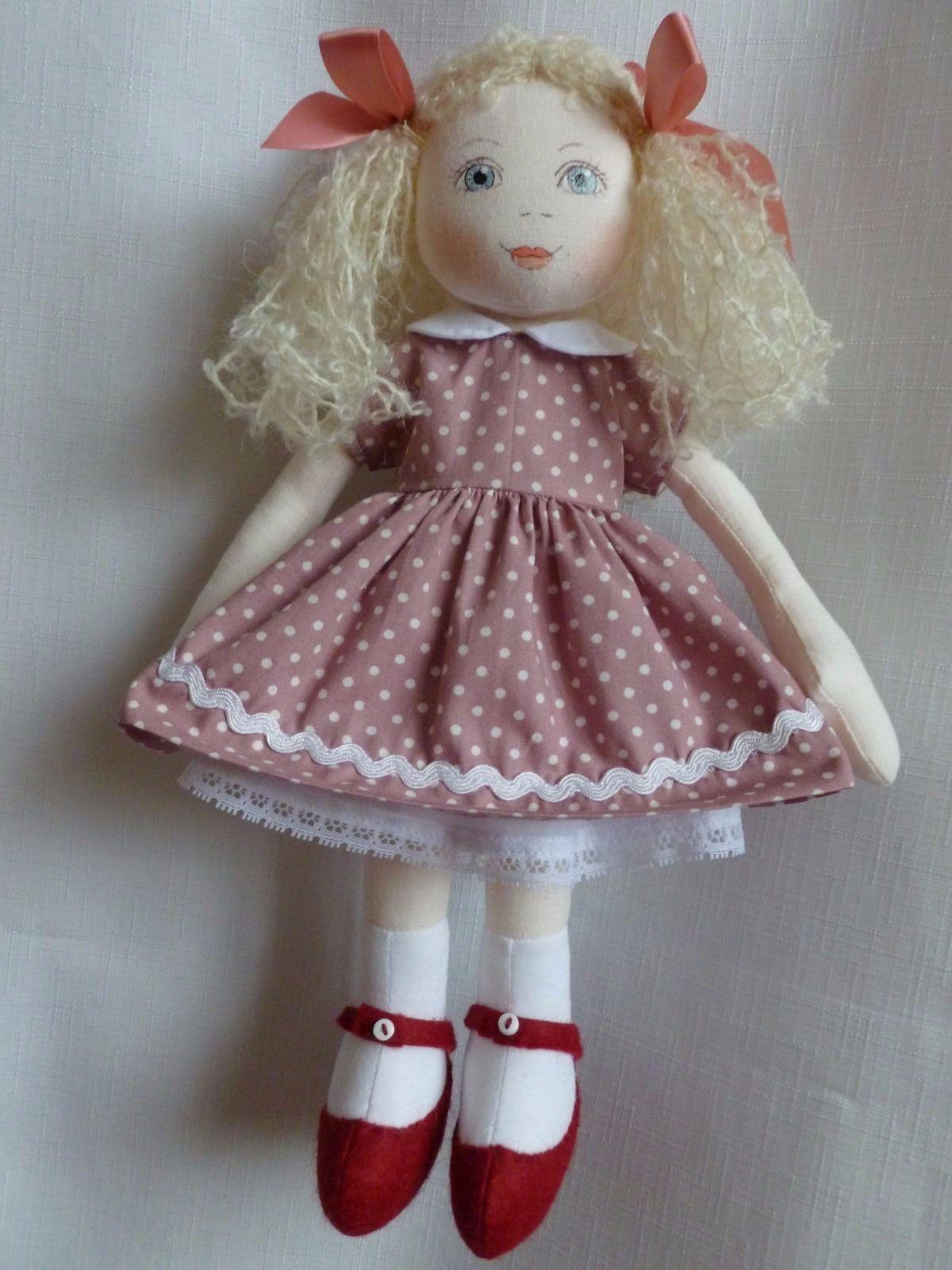 JENNY. A 13ins rag/cloth handmade ooak doll by Brenda Brightmore | eBay
