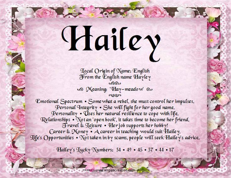 20++ Hayley middle name ideas information