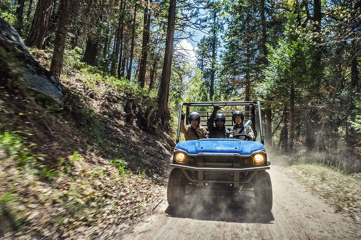 """New 2017 Kawasaki Mule PRO-FXâ""""¢ EPS ATVs For Sale in Kansas. The Mule PRO-FXâ""""¢ EPS Side x Side has Electric Power Steering that self adjusts to deliver the necessary steering assistance based on speed, while also damping kickback to the steering wheel. Massive cargo bed can fit a standard size 40 x 48 pallet with the tailgate closed and up to 1,000 lbs. of cargo capacity Powerful 812 cc three-cylinder engine with massive torque, impressive pulling power, and smooth acceleration to tow…"""