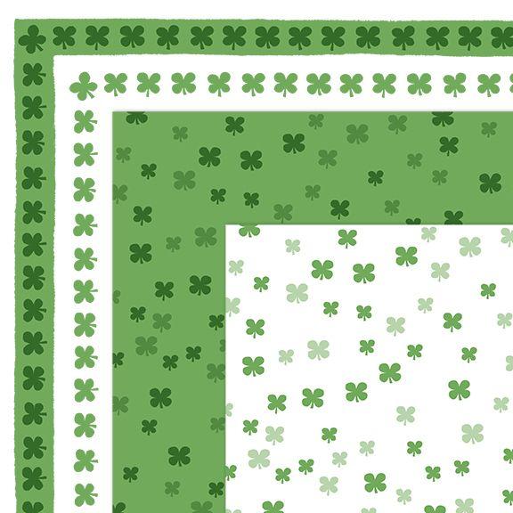Clip Art Free St Patrick S Day Shamrock Borders And Digital Papers Clip Art Digital Paper Free Clip Art