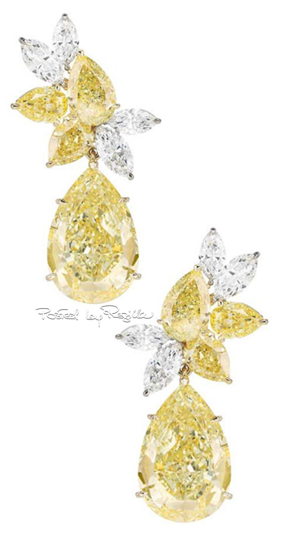 Chopard ~ Canary + White Diamond Earrings