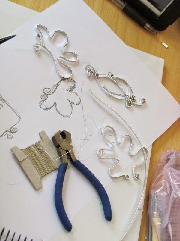 Wire frames for polymer clay. Técnica de alambre y arcilla ...