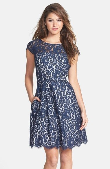 697cdd1b5ffe For stitchfix: This is one dress I would like a statement necklace to go  with Eliza J Lace Fit & Flare Dress | Nordstrom -