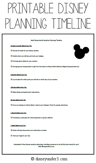 When Should You Start Planning Your Disney Vacation? (with ...