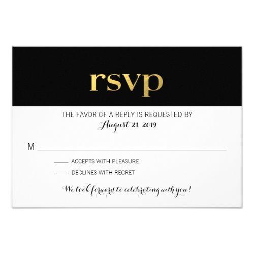 Modern typography black white stripes rsvp card modern formal wedding invitation rsvp modern typography black white stripes rsvp card stopboris Images