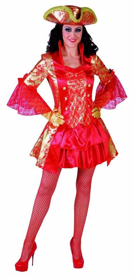 Carnavalskleding Ninja Dames.Sexy Rode Piraten Dame Avontuur Dames Hendriks Carnaval