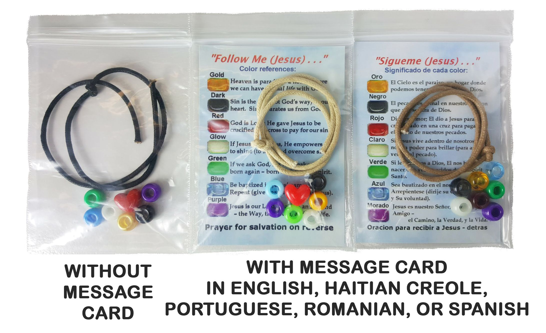 83b79745aa335 Salvation Bracelet Craft Kits with Gospel Message Cards | NHC ...
