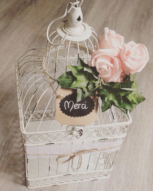 notre urne cage oiseau th me champ tre wedding table. Black Bedroom Furniture Sets. Home Design Ideas