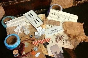 Rigby Post: Rigby Post box is for mixed media artists ranging from assemblage to scrapbooking. The box is a curation of vintage paper ephemera and pieces. No two boxes are the same so that each person receiving the box is able to create a one of a kind piece of art.