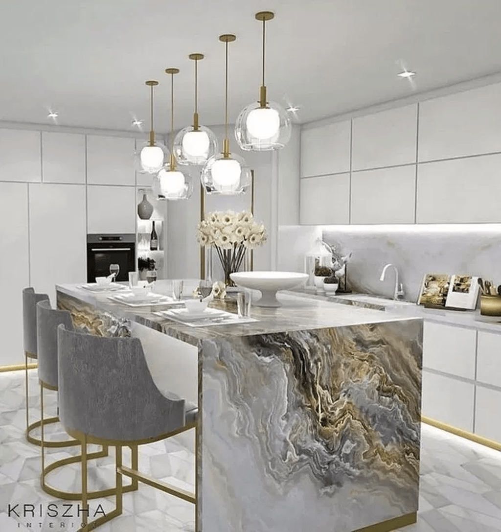34 Lovely Luxury White Kitchen Design Ideas Looks Classy In 2020
