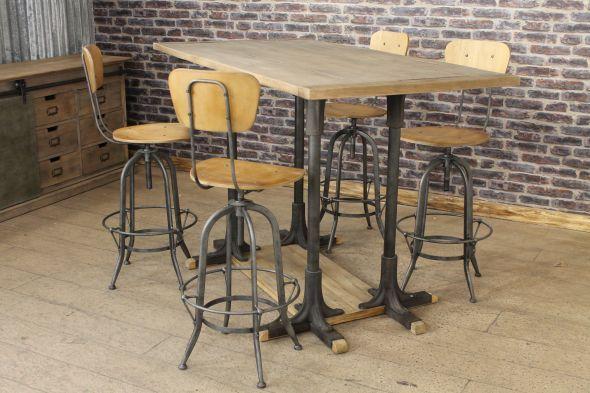 Cast iron poseur table oak top restaurant bar table awesome ii cast iron poseur table oak top restaurant bar table watchthetrailerfo