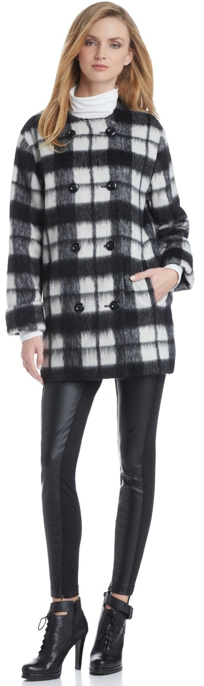 French Connection Women's Check Bunny Coat | Checked shirt ...