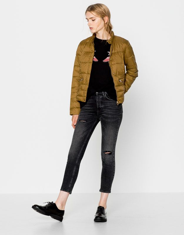 QUILTED NYLON JACKET - NEW PRODUCTS - WOMAN - PULL BEAR Malaysia ... 1ae2052b9ad