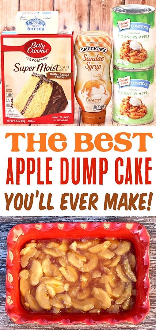 Apple Caramel Dump Cake Recipe with 4 Ingredients! - The Frugal Girls