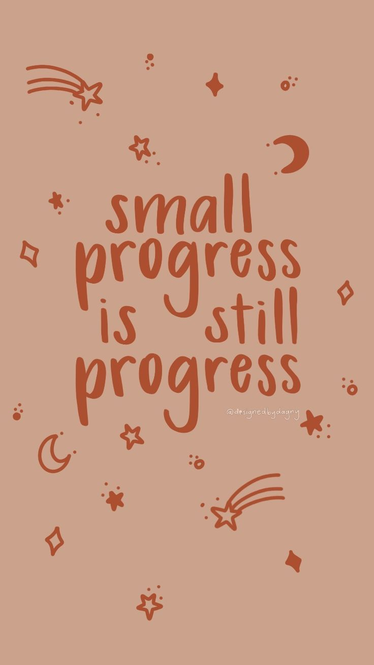 Small progress is still progress