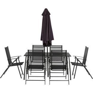 Buy Argos Home Milan 6 Seater Metal Patio Set Black 400 x 300