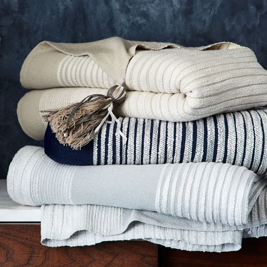 West Elm Throw Blanket Neutral Gets A New Look With This Lightweight Throwhand Loomed