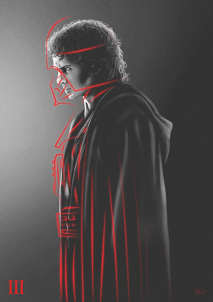 Star Wars: Episode III - Revenge of the Sith by Sahin Duzgun - Home of the Alternative Movie Poster -AMP-