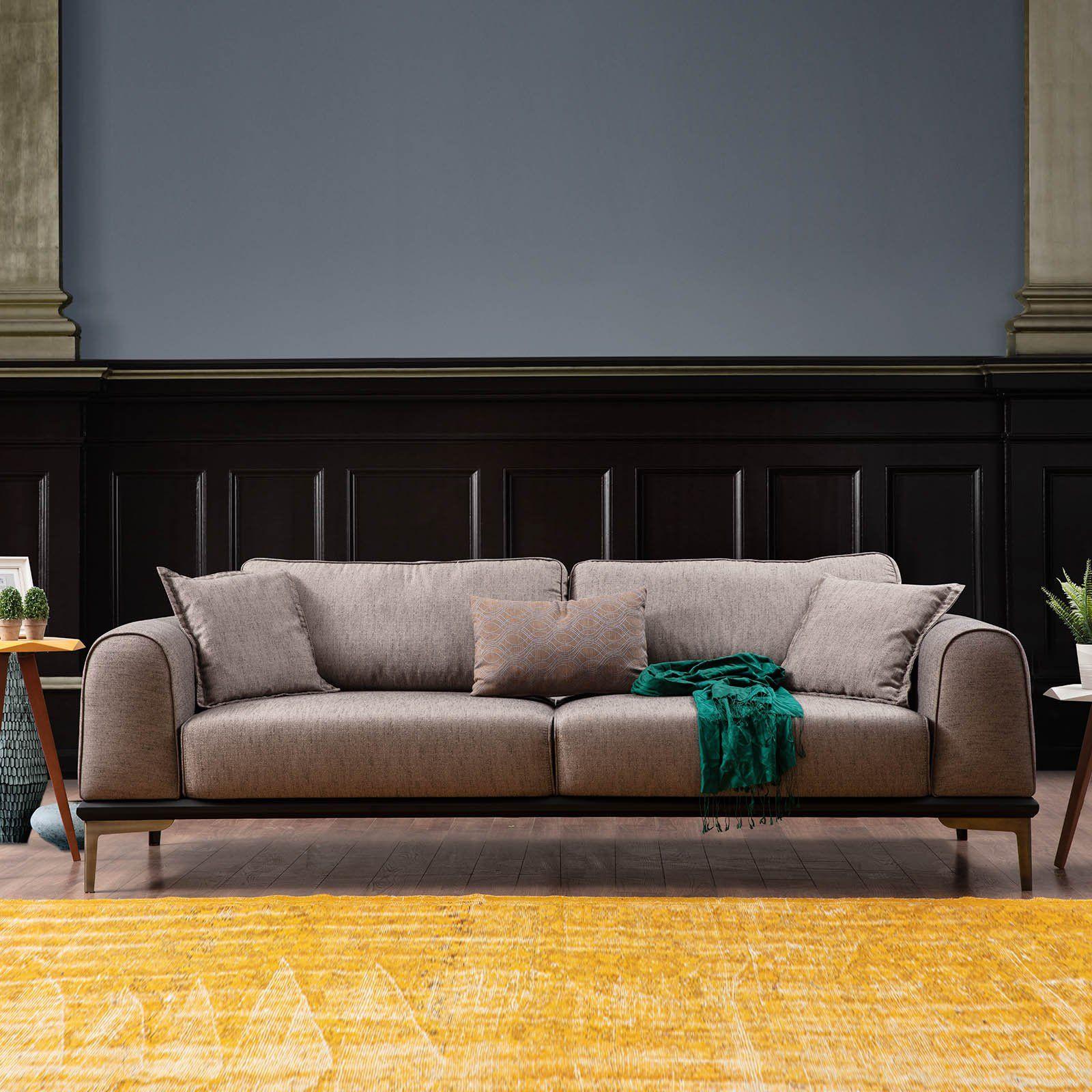Pre Order60 Days Delivery Nirvana 3 Seater Sofa Bed Nirv004 Lightbrown Oturma Odasi Dekorasyonu Mobilya Koltuklar