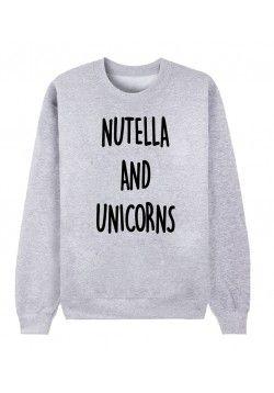 Sweat femme NUTELLA AND UNICORNS   top wear   Pinterest   Nutella ... b602fa948615