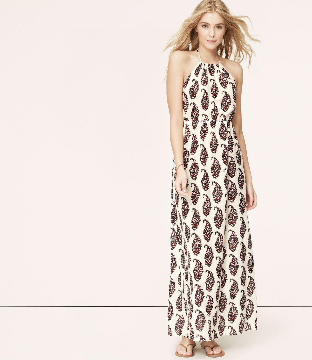 f8ae0d96700 Primary Image of LOFT Beach Paisley Maxi Dress