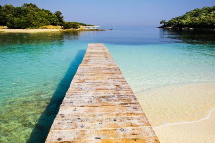 Ksamil beach dock. Image by Azem Ramadani / Getty Images