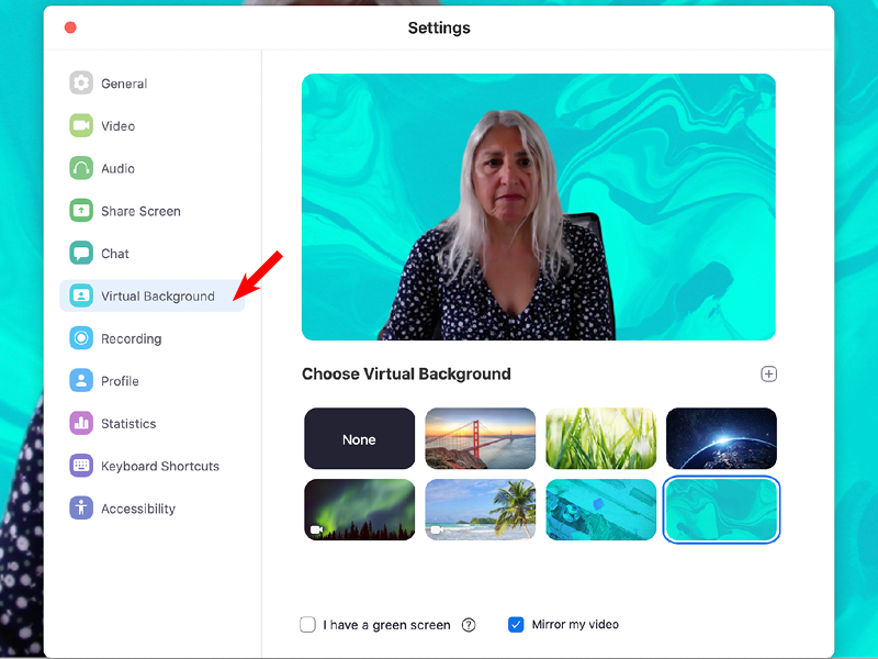 How To Make A Zoom Background Screen Mirroring Greenscreen Video Conferencing