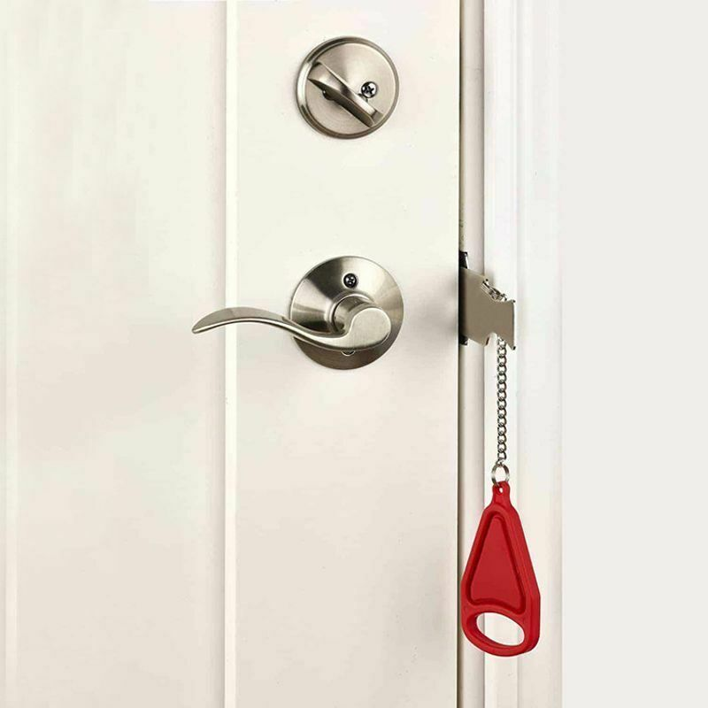 Portable Door Lock Travel Hotel Door Stopper Lock Anti Theft Hardware Security Unbranded Door Stopper Hotel Door Door Locks