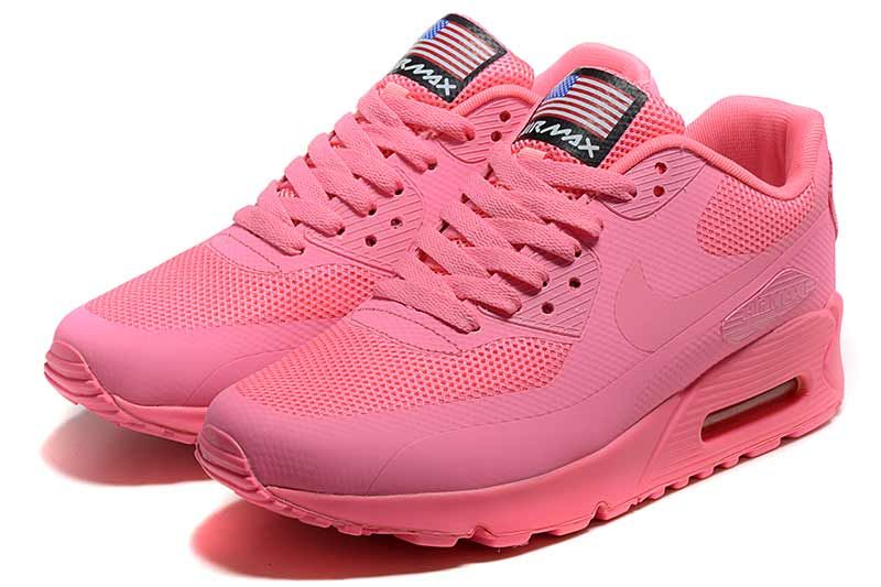 Nike Air Max 90 Women Shoes Pink 5013