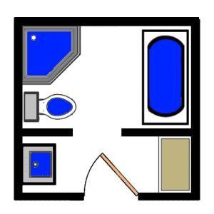 Visual Guide to 15 Bathroom Floor Plans   Bathroom floor plans ...