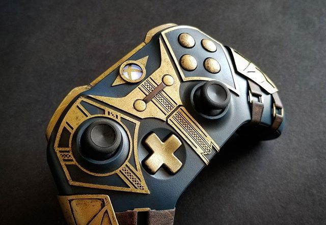 Check Out This Elder Scrolls Online Custom Controller By Devin Smith Xbox Xboxone Projectscorpio Games El Custom Xbox One Controller Custom Xbox Xbox One