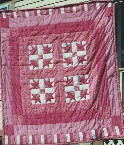 Pieced Tulip Quilt 1990 for Mom