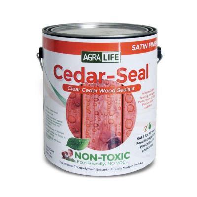 Tricopolymer Voc Free Non Toxic Cedar Seal 1 Qt Clear Satin Wood Sealer Discontinued Csq The Home Depot Wood Sealant Cedar Cedar Wood Projects