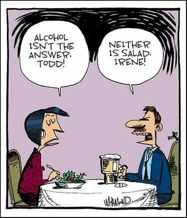 #salad #alcohol #beer #humor